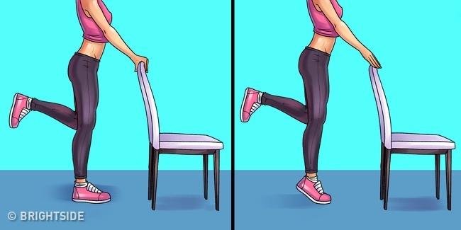 ورزش برای پا درد : بلند شدن بر روی پنجه پا