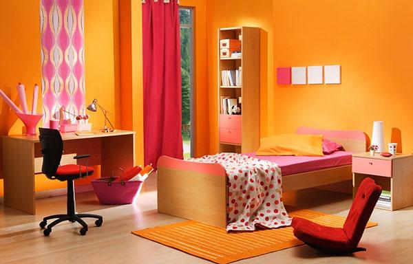 دکوراسیون رنگ نارنجی