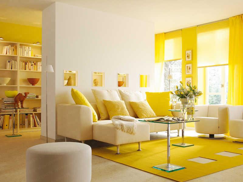 دکوراسیون داخلی به رنگ زرد