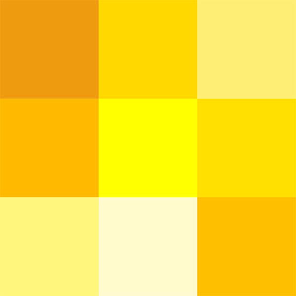 انواع طیف های رنگ زرد