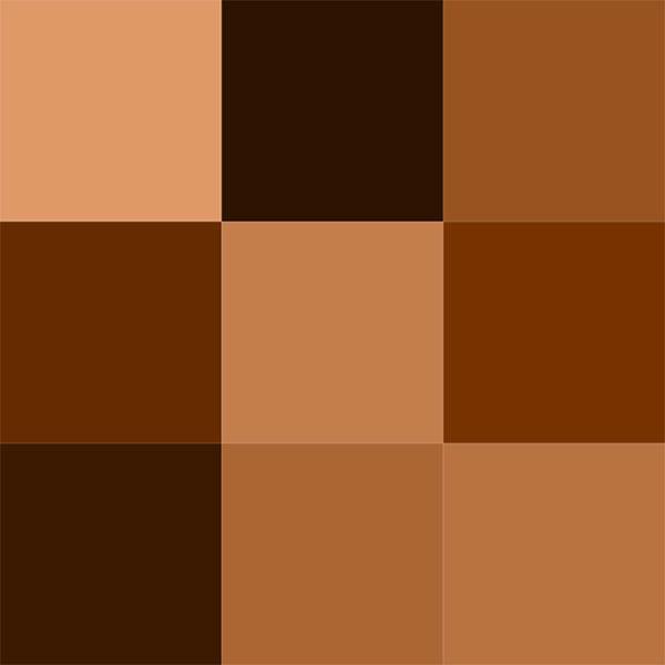 انواع طیف های رنگ قهوه ای