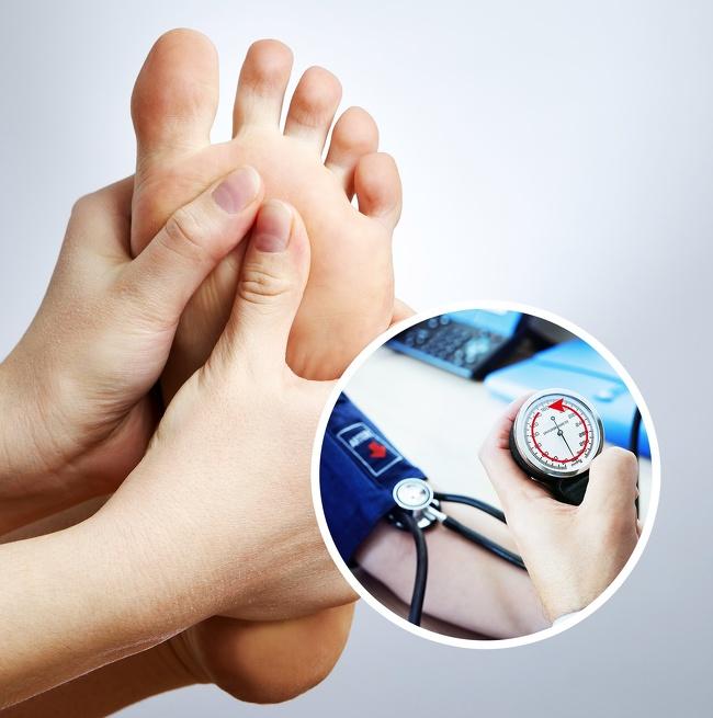 ماساژ پا برای درمان فشار خون بالا