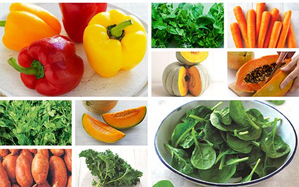میوه و سبزیجاتسرشاز از ویتامین آ