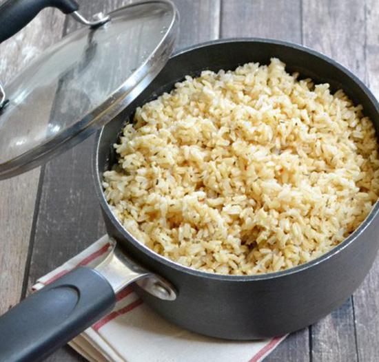 طرز پخت برنج قهوه ای کته