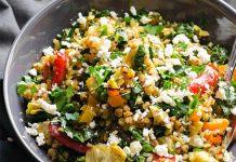 طرز تهیه خوراک سبزیجات و گندم سیاه