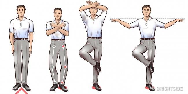 حرکات چی کونگ : ایستادن بر روی یک پا