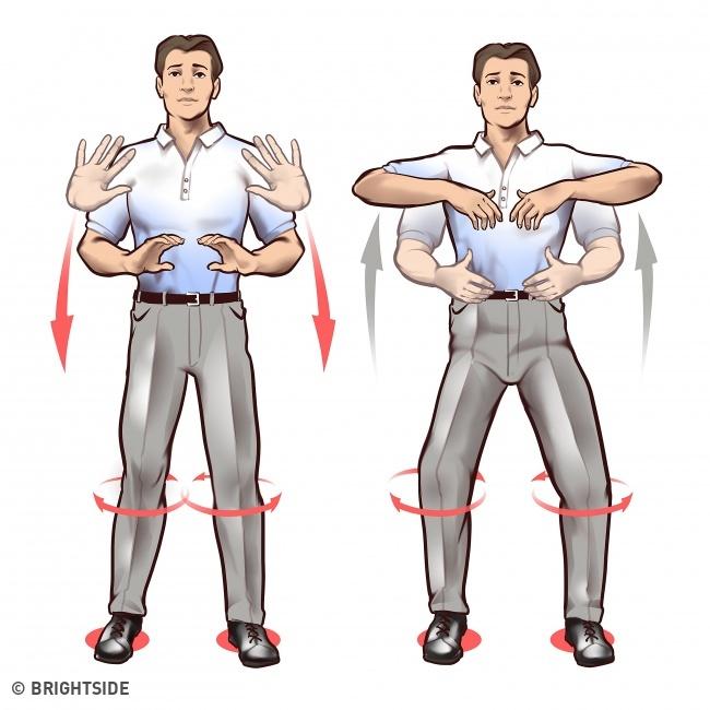 حرکات چی کونگ : حرکات مارپیچی بدن