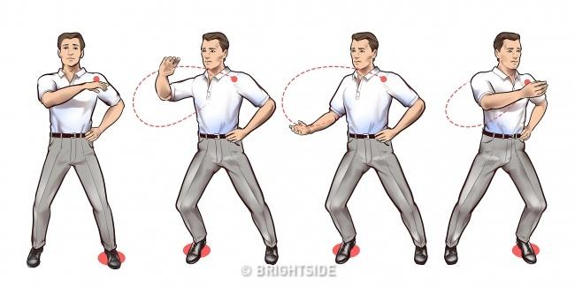 حرکات چی کونگ : حرکات مارپیچی دست ها