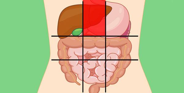 علت درد در قسمت بالا و بخش میانی شکم