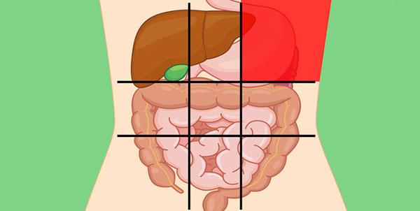 علت درد در قسمت بالا و سمت چپ شکم