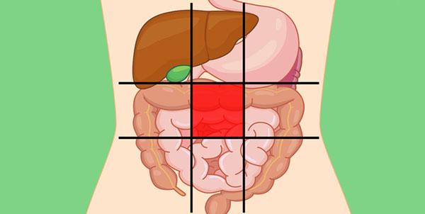 علت درد در قسمت میانی شکم
