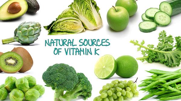 ویتامین k در چه چیزهایی است