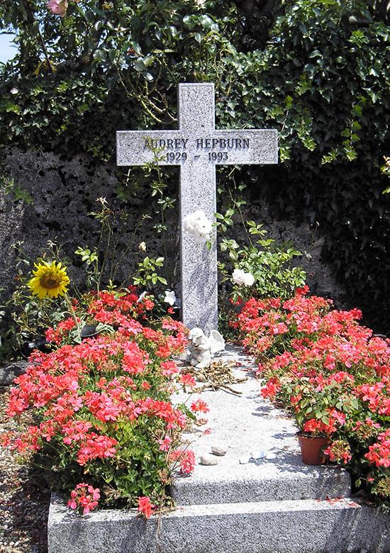 قبر آدری هپبورن