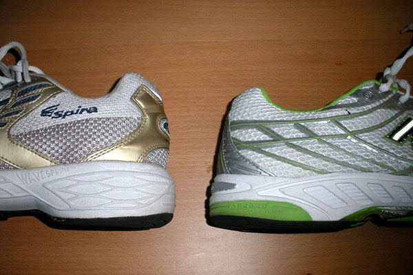 مقایسه پاشنه در کفش های پیاده روی و دویدن