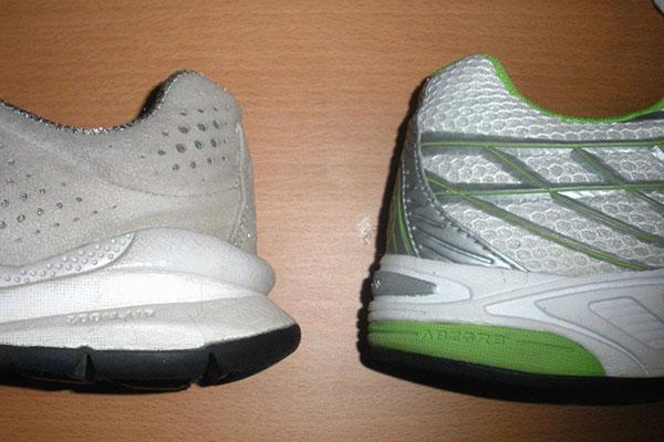 پهنای پاشنه کفش در کفش های دویدن و پیاده روی