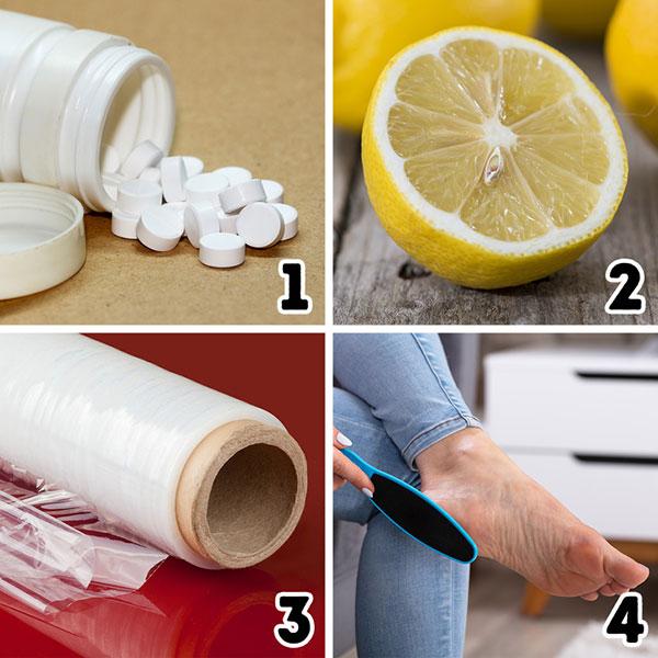 درمان ترک پا با آسپرین و لیمو
