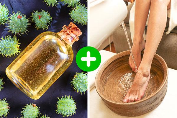 درمان خشکی پا با روغن کرچک