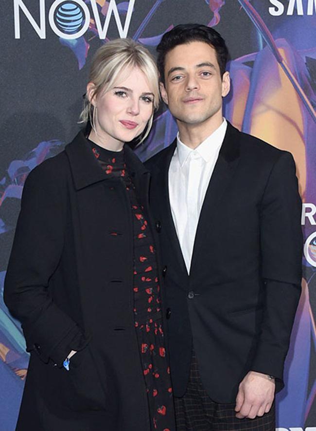 رامی ملک و نامزدش لوسی بوینتون
