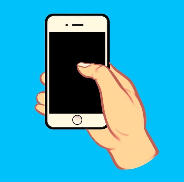 گوشی را با یک دست می گیرید