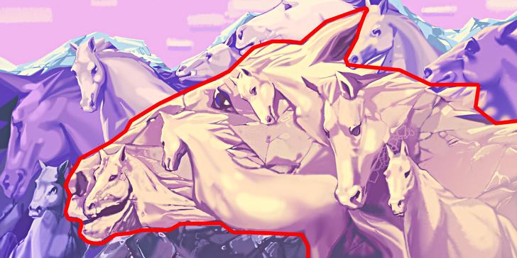 یک اسب در تصویر می بینید