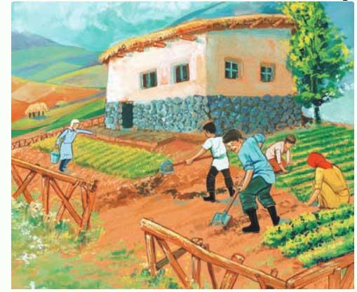 انشا درباره باغداری و کشاورزی با خانواده