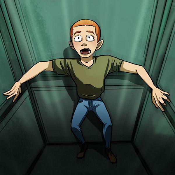 اگر در آسانسور در حال سقوط گیر افتادید چه کنید؟