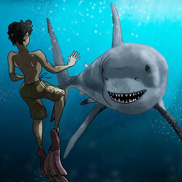 اگر یک کوسه در دریا به شما نزدیک شد چه می کنید؟
