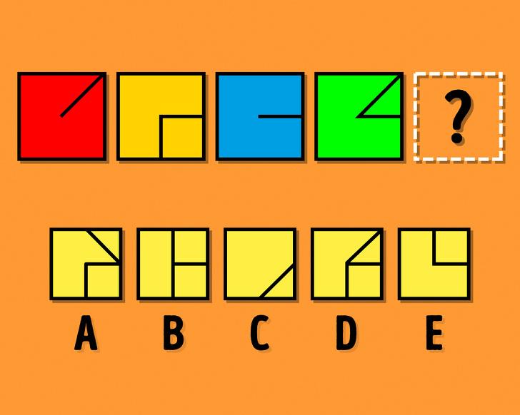 کدام مربع باید جای علامت سوال باشد؟
