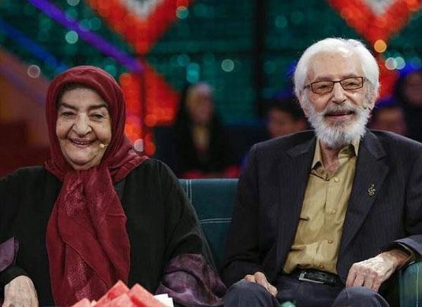 جمشید مشایخی و همسرش گیتی افروز رئوفی