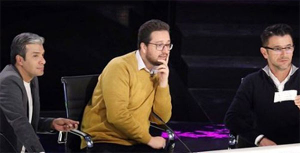 بشیر حسینی، امین حیایی و آریا عظیمی نژاد در مسابقه عصر جدید