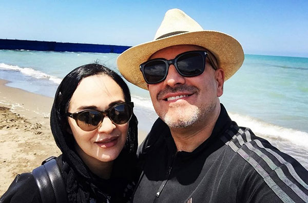 رویا نونهالی و همسرش رامین حیدری فاروقی
