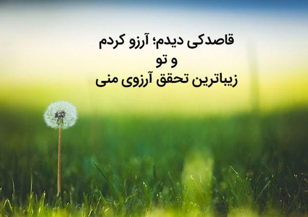 جملات عاشقانه درباره گل قاصدک