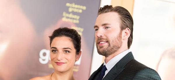 کریس ایوانز و نامزدش جنی سلیت