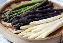تفاوت انواع مارچوبه سفید بنفش سبز