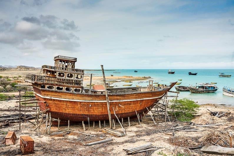 لنج سازی بندر تاریخی لافت