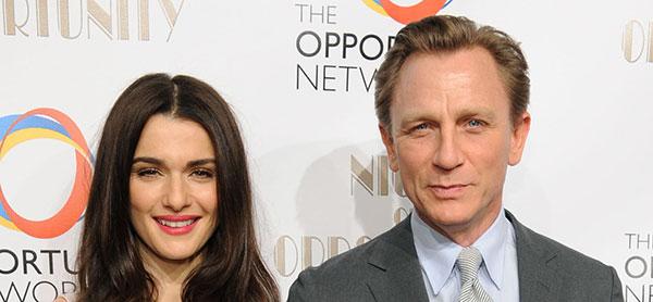 دنیل کریگ و همسرش ریچل وایس