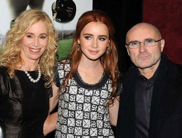 لیلی کالینز و پدر و مادرش