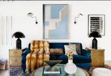 مبلمان به رنگ آبی کلاسیک
