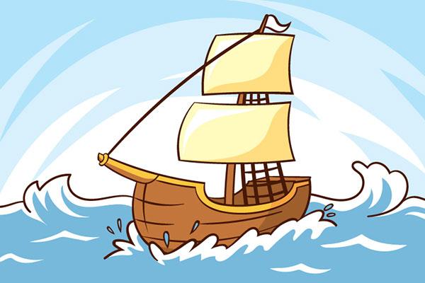 انشا درباره گفتگوی میان کشتی و طوفان