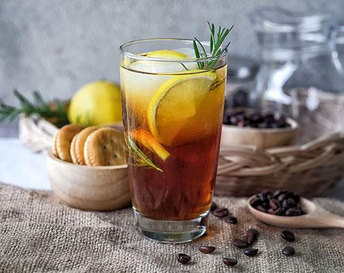 طرز تهیه دسر قهوه لیمو