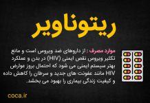 دارویاب : عوارض داروی ریتوناویر