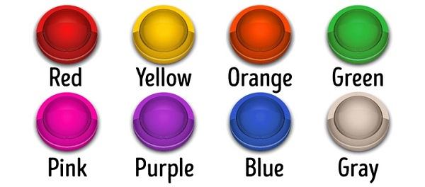کدام دکمه رنگی را بیشتر دوست دارید؟
